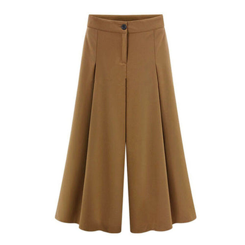 Ladies Wide Casual  Leg Pants