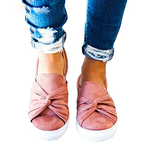 Fashionable Lovely Bowknot Round Toe Casual Shoes