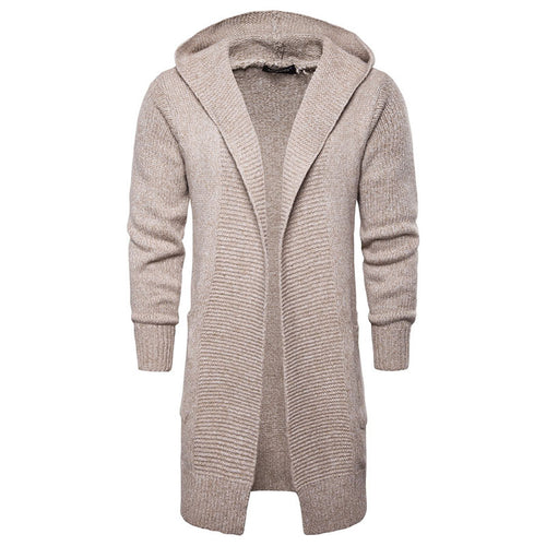 Woolen Casual Printing Hooded Plain Men's Sweater
