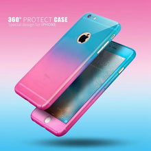 360 Degree Full Protection Gradient Case For iPhone Free Glass Film