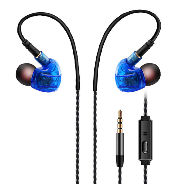 In-Ear Bass Stereo S Clear Earbuds With Mic