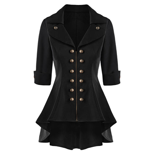 Women Vintage Style Plus Size Double Breasted Jacket