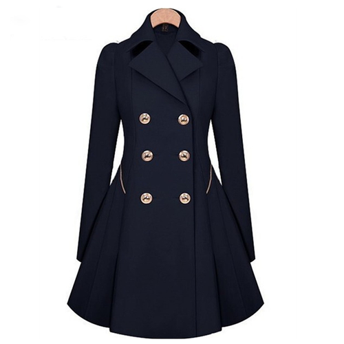 Female Winter Trench Classic Coat