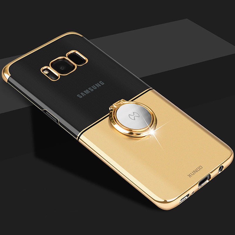official photos f9b2c a41af Luxury Magnetic Ring Holder PC Case For Samsung Galaxy S8 S8 Plus