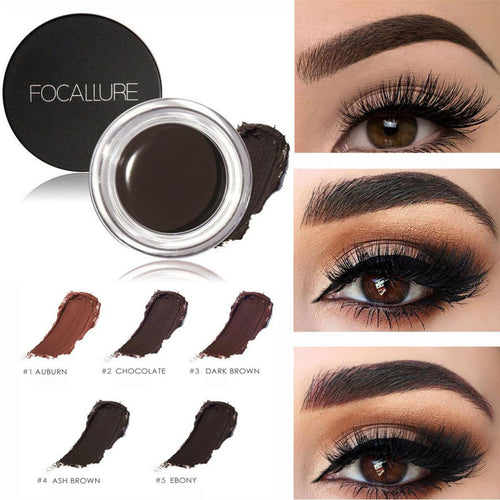 5 Color  Waterproof  Eye Brow Cream with Brush