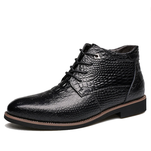 High Quality Fashion Genuine Leather Ankle Boots for Men