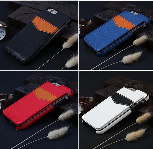 Luxury Leather iPhone Cases With Card Slot