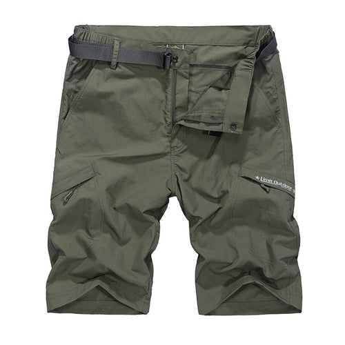 Big Size Waterproof Cargo Military Shorts+Belt
