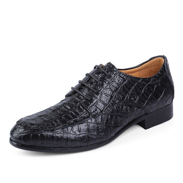 Men Plus Size Business Crocodile  Genuine Leather Oxford Dress Shoes