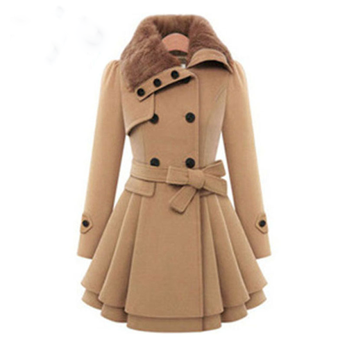 Winter Autumn Fashion Style  Women Woolen Coat