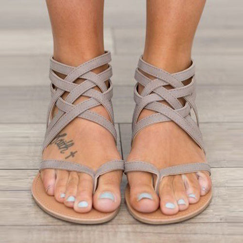 Women's Cross Bandage Rome Style Sandals