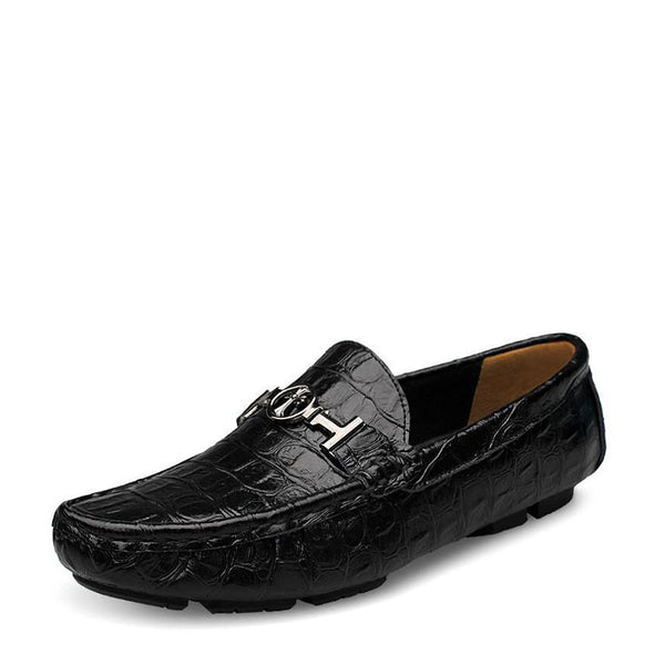 Alligator Soft Leather Loafers Breathable Men Shoes