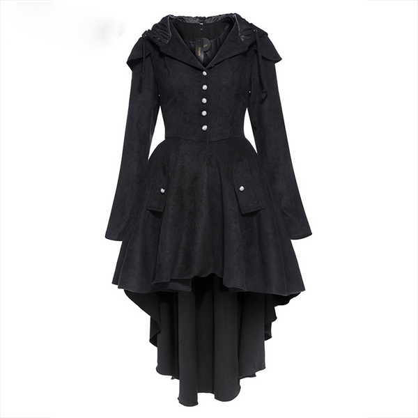 Fashion Corset Hooded Lace-up Women's Overcoat