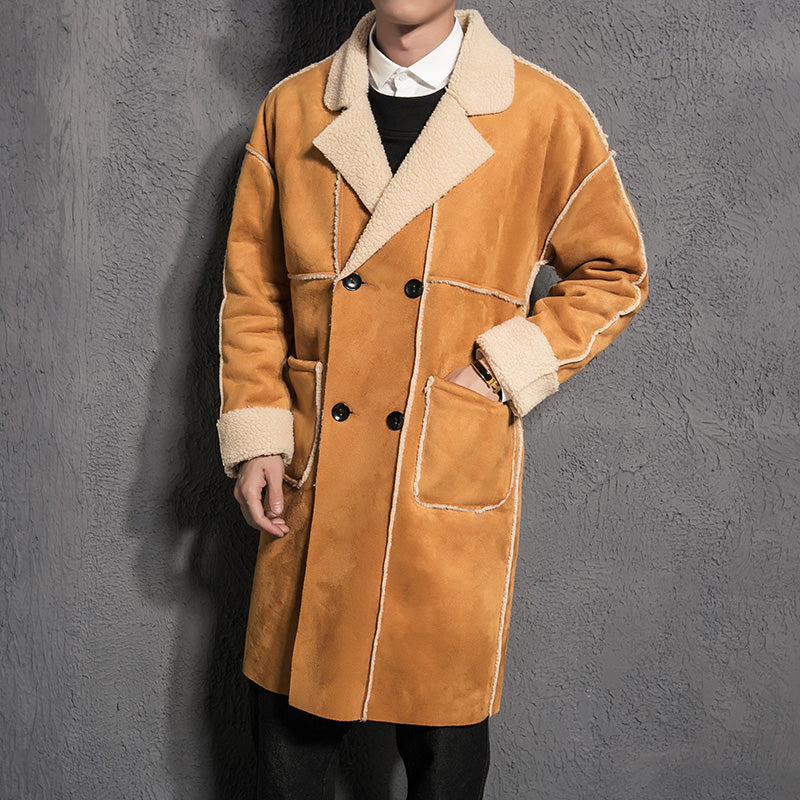 buying new best cheap price Men New Arrival Fur Leather Suede Trench Coat