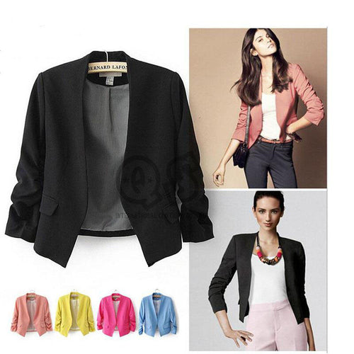New Autumn short jackets Candy Color Women outwear