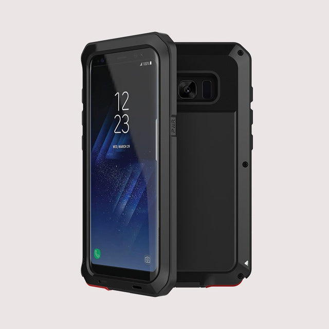 in stock 0ad6e 7d38a Aluminum Metal Military Case For Samsung Galaxy S8 S8 Plus Note 8