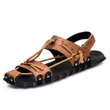 2018 Mens Closed Toe Genuine Leather Sandals
