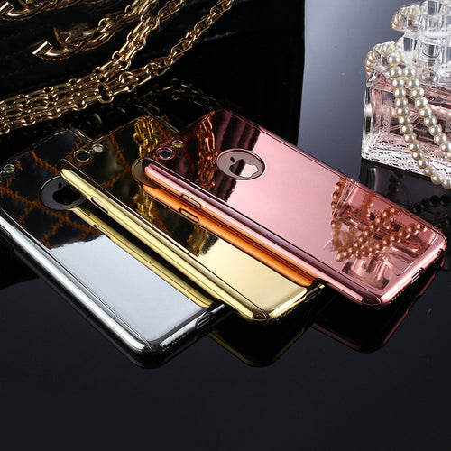 Luxury 360 Degree Full body Protection Electroplate Mirror Case