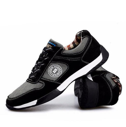 Genuine Leather with Mesh Men Casual Shoes