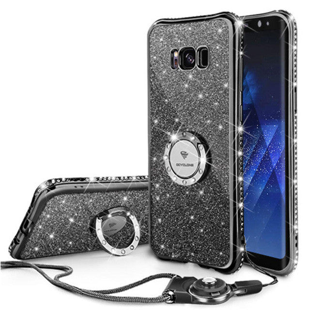 low priced 7e0e6 fbb40 Bling Diamond Phone Case For Samsung Galaxy S8/S8 Plus