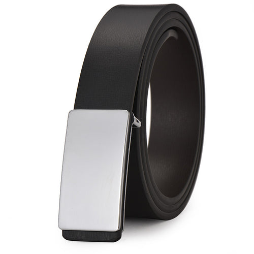 Smooth Buckle Alloy Business Men's Belts