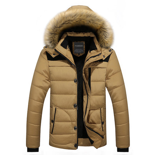 Regular Loose Hair Collar Men's Down Coat