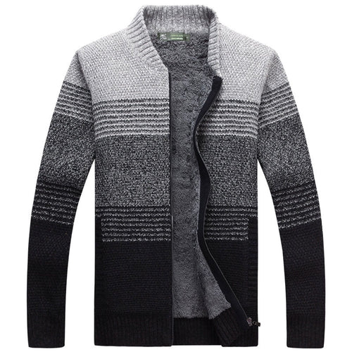 Color Block Stand Collar Casual Men's Sweater