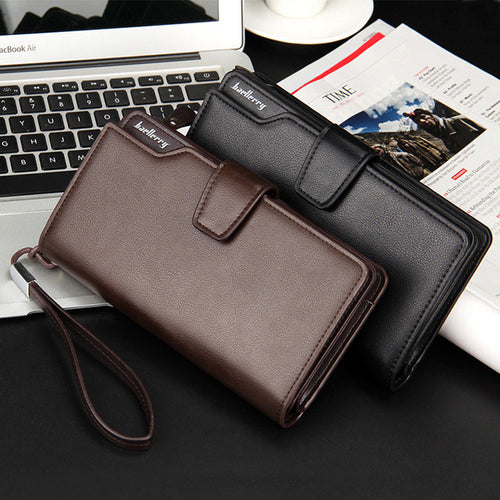 Men Top Quality Leather Long Wallet