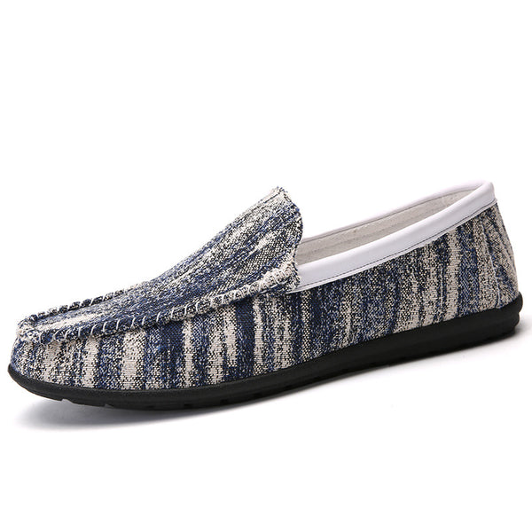 Round Head Pedal Cloth Men's Loafers