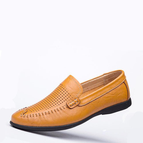 Men Genuine Leather Breathable Light Big Size Loafers