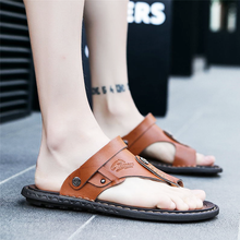 2018 Mens Breathable Leather Beach Sandals