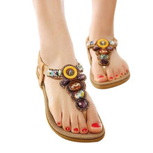 Bohemian Gemstone Beaded Slippers