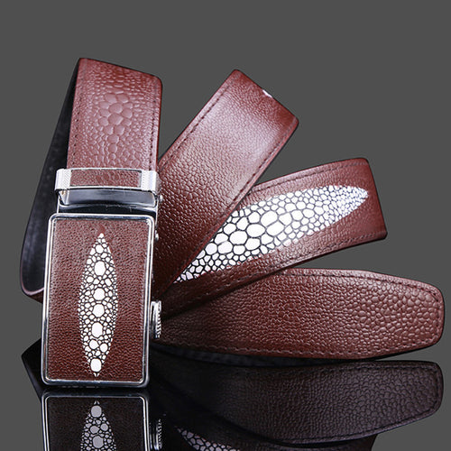 Engraved Embossed Alloy Auto Buckle Men's Belts