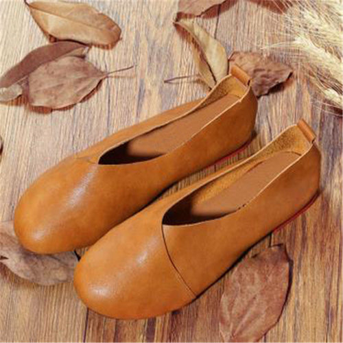 Casual Soft Leather Flat Shoes