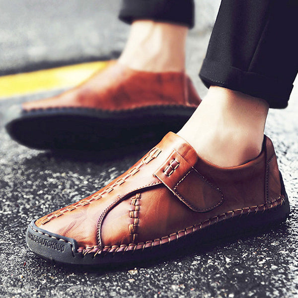 Casual Leather Stitching Men's Loafers