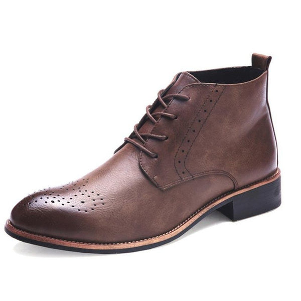 Pointed Toe Flats Plus Size Men's Boots