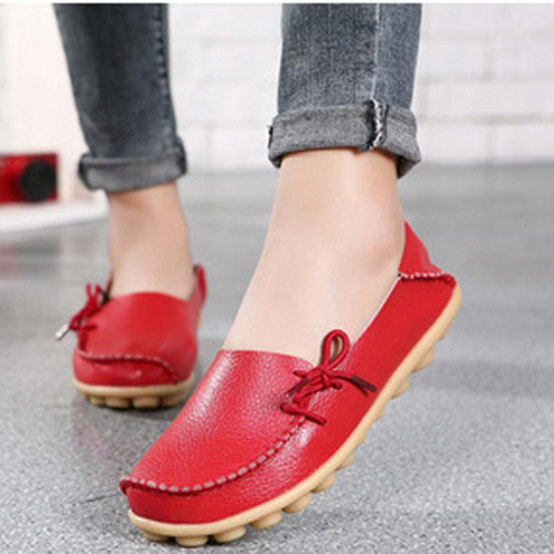 Large Size Leather Comfortable Breathable Women's Casual