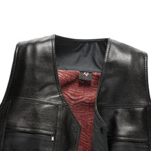 With Velvet Single-Breasted PU Men's Vest Jacket