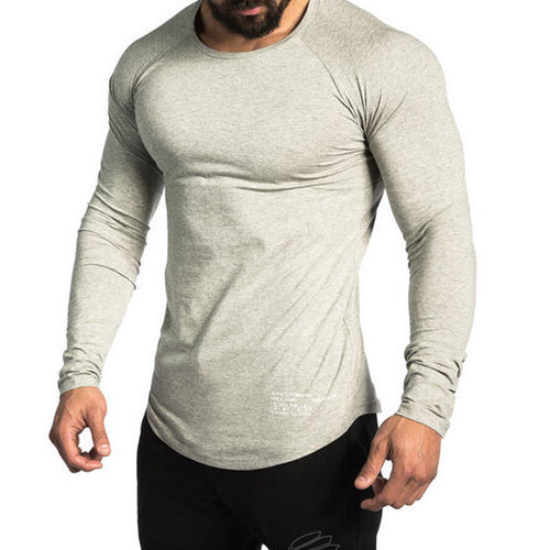 Fitness Bodybuilding Workout Crossfit Long Sleeves T-shirt