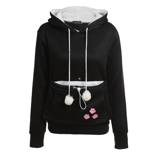 Cat Lovers Pullovers With Cuddle Pouch