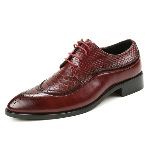 New Fashion Men Lace Up brogue oxford dress shoes