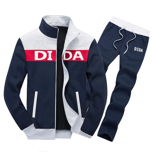 Sweatshirts&Pants Men Stand Collar Zipper Tracksuit