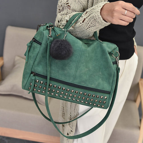 Fashion Leather Zipper Style Women's Messenger Bag