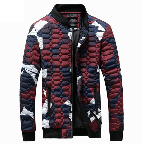Plus Size Men Camouflage  Winter Jackets