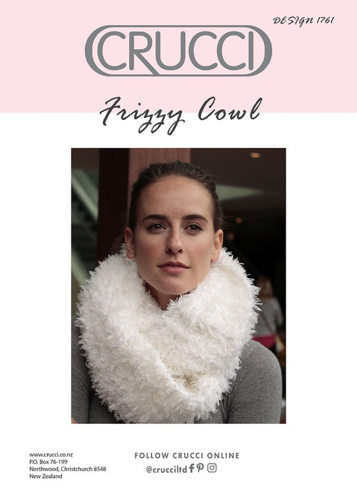 Crucci Knitting Pattern 1761 Frizzy Cowl