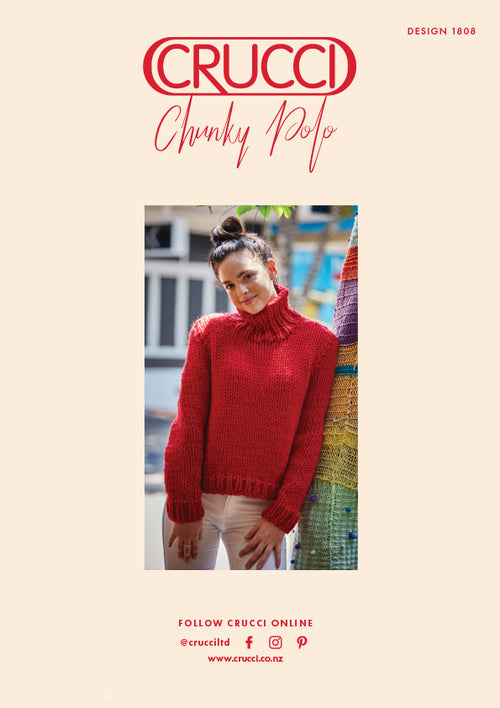 Crucci Knitting Pattern 1808 Chunky Polo - Digital