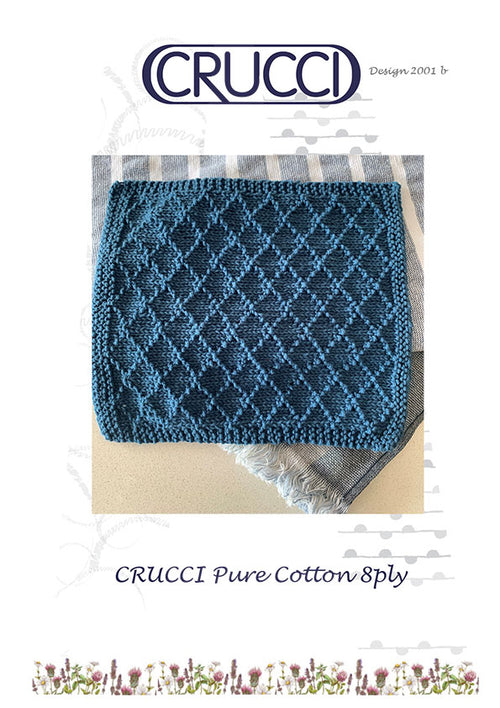 Cotton Diamond Pattern Dishcloth [FREE PDF PATTERN]