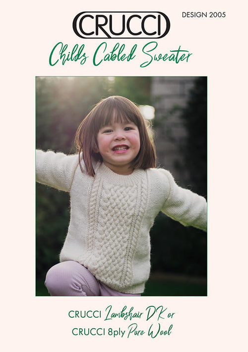 Crucci Knitting Pattern 2005 Child's Cabled Sweater