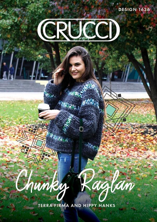 Crucci Knitting Pattern 1636 Chunky Sweater - Digital