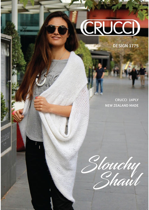Crucci Knitting Pattern 1775 Aquarius Slouchy Shawl Coat
